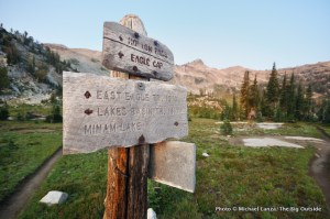 Trail junction, Lakes Basin.