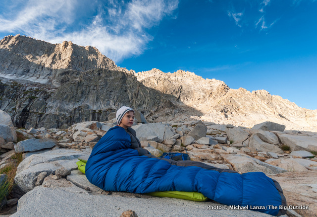 The morning after sleeping under the stars at Precipice Lake, Sequoia National Park.