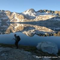 Wanda Lake, in the Evolution Basin on the John Muir Trail.