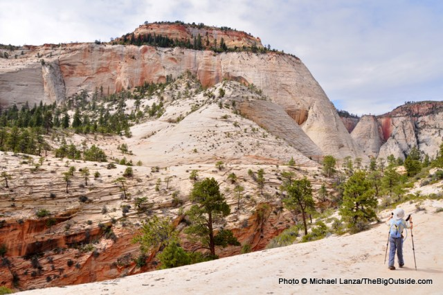 My son, Nate, hiking Zion's West Rim Trail.