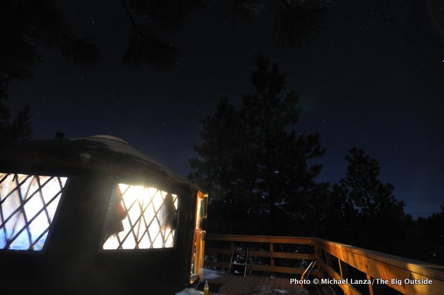 Skyline yurt, Boise Mountains, Idaho.