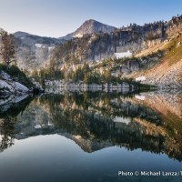 Mirror Lake, Lakes Basin, Eagle Cap Wilderness, Oregon.