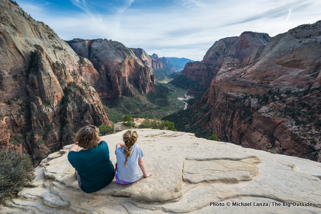 My wife, Penny, and daughter, Alex, on Angels Landing, Zion National Park.