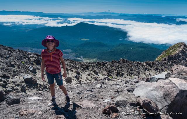 Alex hiking Monitor Ridge, Mt. St. Helens