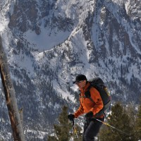 Skiing The Triangle on Mount Heyburn.