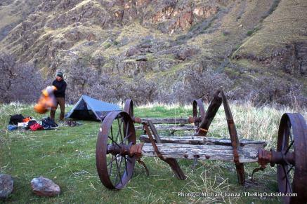 Campsite near Saddle Creek.