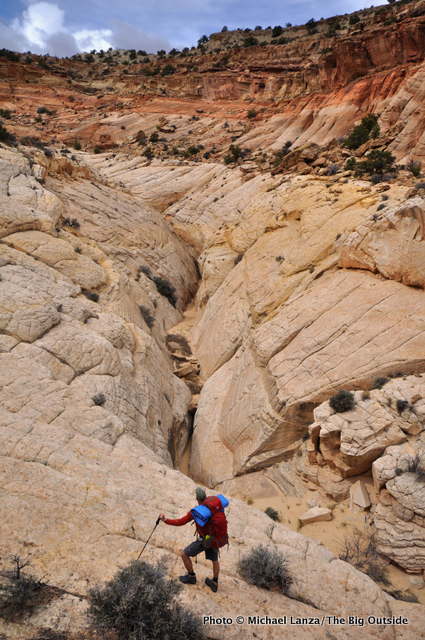 Second day on the Beehive Traverse, Capitol Reef.