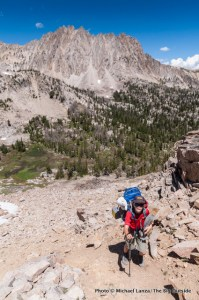 Backpacking in Idaho's White Cloud Mountains.