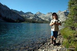 Nate at Alice Lake, Sawtooth Mountains, Idaho.