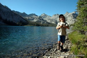Nate at Alice Lake, Sawtooth Mountains, Idaho.