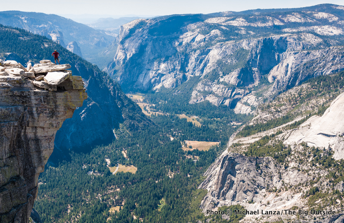 """The """"diving board,"""" summit of Half Dome, Yosemite National Park."""