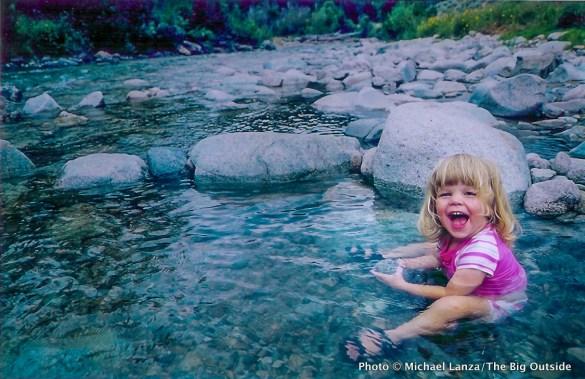 Skillern Hot Springs, Smoky Mountains, Idaho.