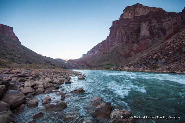 Colorado River at Hance Rapids.
