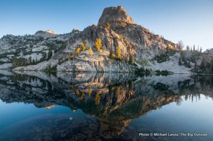 Unnamed peak and Lake 8522 above the Alpine Creek Trail.
