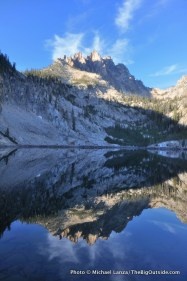 Mount Heyburn and Middle Bench Lake, Sawtooth Wilderness.