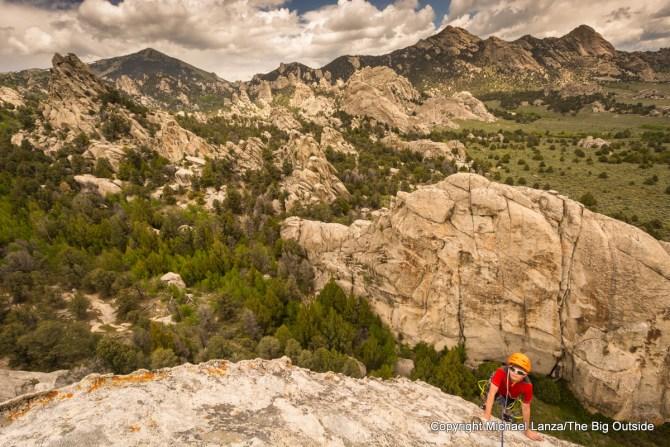 Rock climbing at Idaho's City of Rock National Reserve.