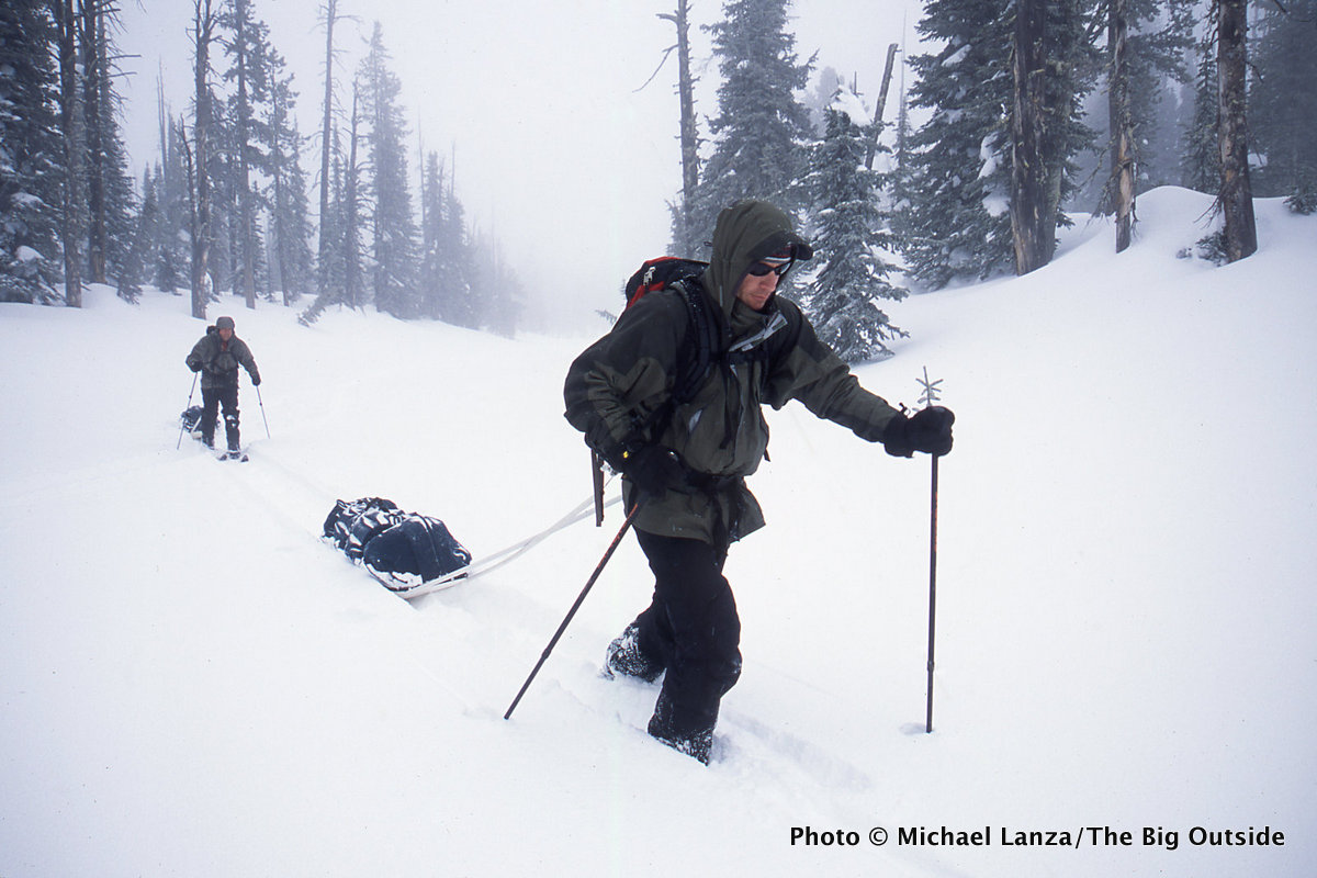Skiing south of Old Faithful in Yellowstone National Park.