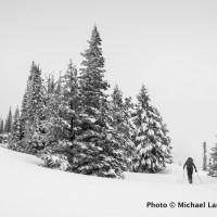 Backcountry skiing, Boise Mountains, Idaho.