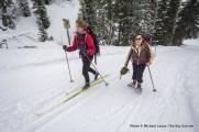Skiing Elkhorn Loop to Banner Ridge yurt.