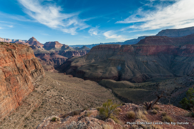 The view from Horseshoe Mesa in the Grand Canyon.
