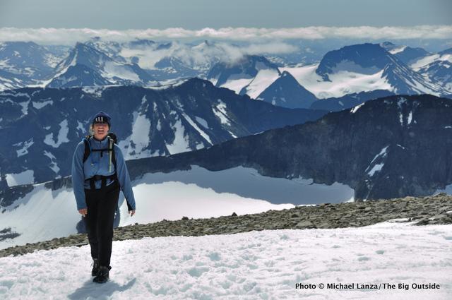 Near the summit of Galdhøpiggen (2469m), highest peak in Norway