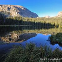 Ouzel Lake in Wild Basin, Rocky Mountain National Park.