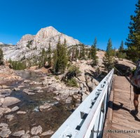 On the Pacific Crest Trail at Glen Aulin, Yosemite National Park.