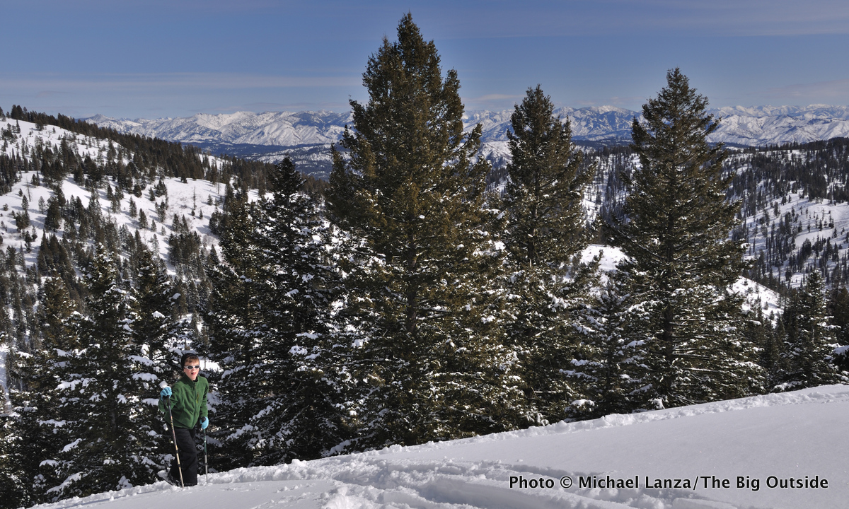 My son, Nate, skiing Freeman Peak in Idaho's Boise Mountains.