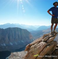 At Trail Crest on the John Muir Trail, Mount Whitney, Sequoia National Park.