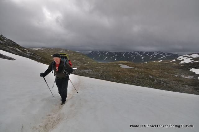 Wet hiking in Norway's Jotunheimen National Park.