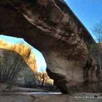 Coyote Natural Bridge in Coyote Gulch.