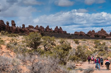 Hikers in Devils Garden