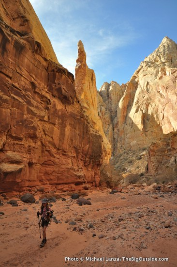My daughter in Spring Canyon, Capitol Reef National Park.