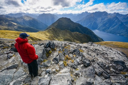 Summit of Mount Luxmore on the Kepler Track, Fiordland National Park, New Zealand.