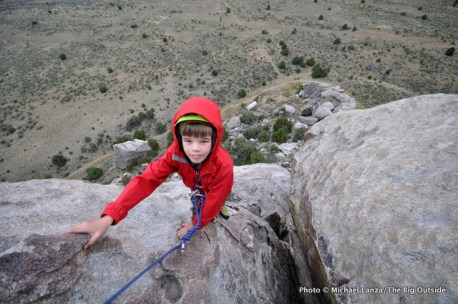 Nate climbing at Castle Rocks State Park, Idaho.