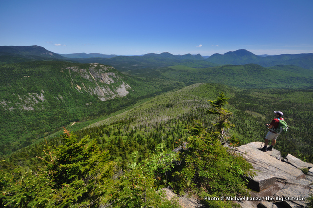 Hiking in New Hampshire's White Mountains.