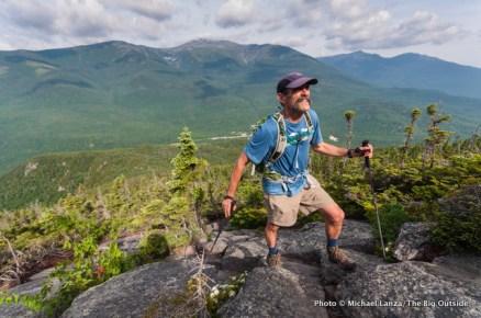 Mark hiking the Wildcat Ridge Trail.
