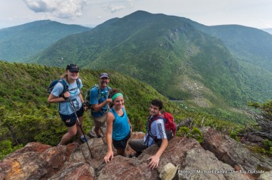 Skye, Mark, Anna, Marco above Carter Notch.