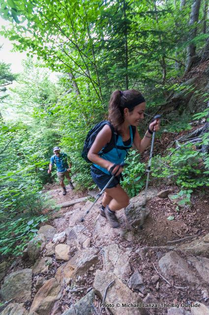 Anna hiking the Wildcat Ridge Trail, White Mountains, N.H.