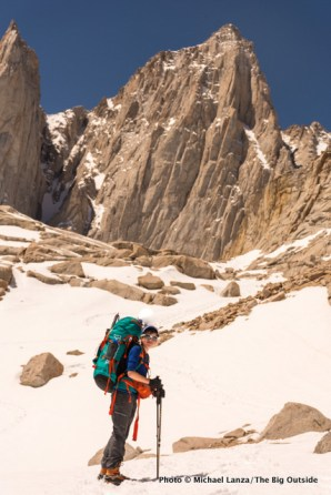 Nate en route to climb California's Mount Whitney.