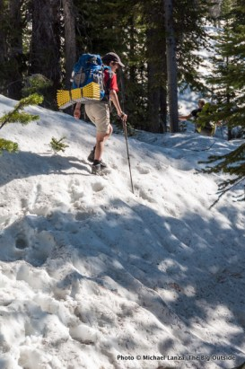Nate backpacking to Alice Lake.