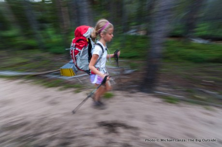 Alex backpacking to Hell Roaring Lake, Sawtooth Mountains, Idaho.