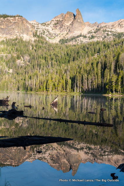 Hell Roaring Lake, Finger of Fate, Sawtooth Mountains, Idaho.