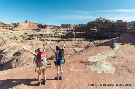 Alex and friend Lili Serio in the Needles District, Canyonlands National Park.