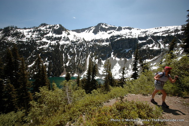 My wife, Penny, hiking the Maple Pass Loop, North Cascades National Park.
