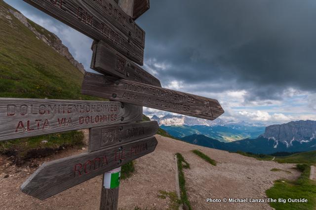 Forcella de Putia, Alta Via 2, Dolomites.