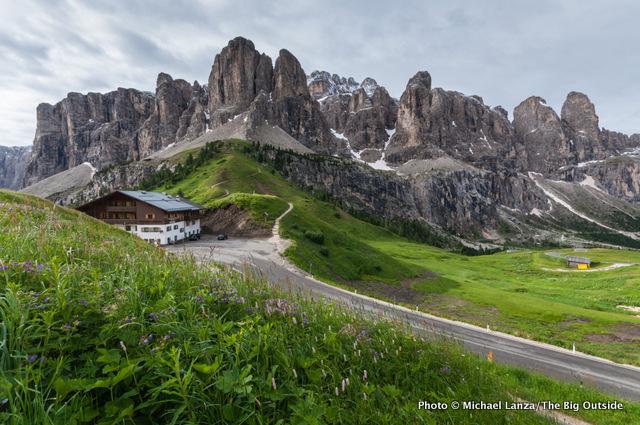 Gardena Pass, Dolomites.