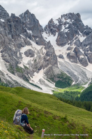 Trail 749 below the Pale di San Martino.