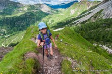 Alex hiking Trail 712 to Col Verde, Paneveggio-Pale di San Martino Nature Park.
