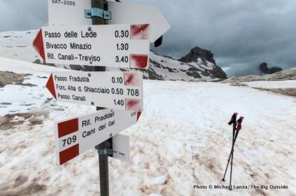 Alta Via 2, Passo Pradidali.